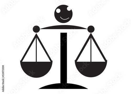 Vector illustration Icon of justice scales