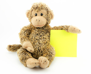 little monkey with note pad
