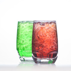 Green root beer flavor aerated soft drinks with water soda