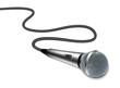 Vector microphone with curved cable on white background - 53474315
