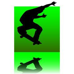 skater green square
