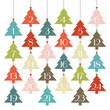 Advent Calendar Hanging Trees Retro
