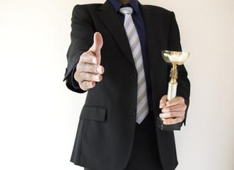 delivering trophy