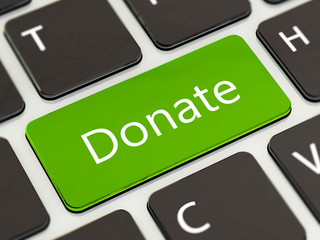 Donate button on laptop keyboard