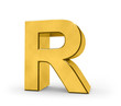 Letter in gold - R