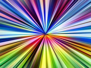 Multicolored pinpoint light rays explosion illustration.