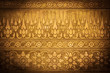Gold Metal Background with Thai Traditional Textures, Vignette