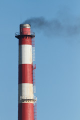 Oil refinery chimney