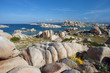 Lavezzi Islands with blue sky, Corsica, France