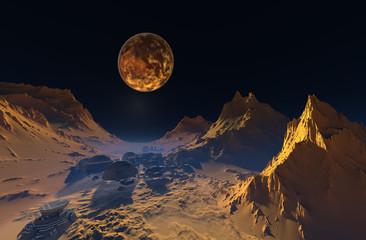 Space landscape.