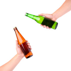 Hands Clinking Glasses Beer