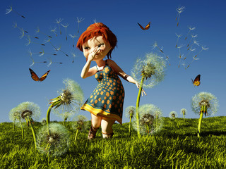 Kids and butterflies.