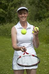 Female tennis player Portrait