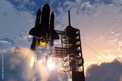 Foto op Plexiglas Ruimtelijk Space transport