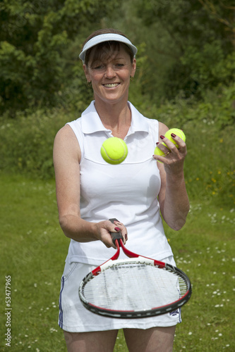 Female tennis player Portrait