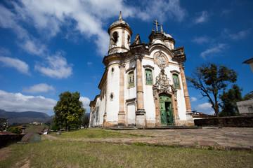 View of the Igreja de Sao Francisco de Assis,ouro preto,brazil