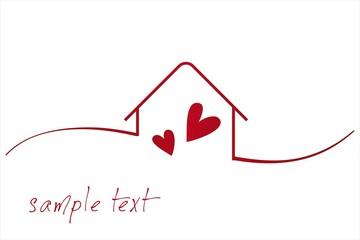Home , love, architecture , icon, business logo design