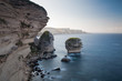 Cliffs of in the morning, Corsica, France