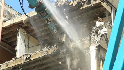 A demolition crane in action.Find similar clips in our portfolio