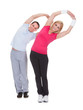 Portrait Of Couple Exercising