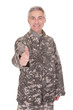 Mature Soldier Showing Thumb Up Sign