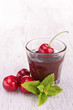 cherry and chocolate sauce