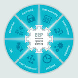 Enterprise Resource Planning infographics