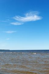 Cloud and sea.