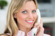 attractive woman phoning