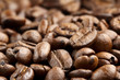 close up of roasted coffee beans