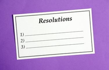 Resolutions on a Card