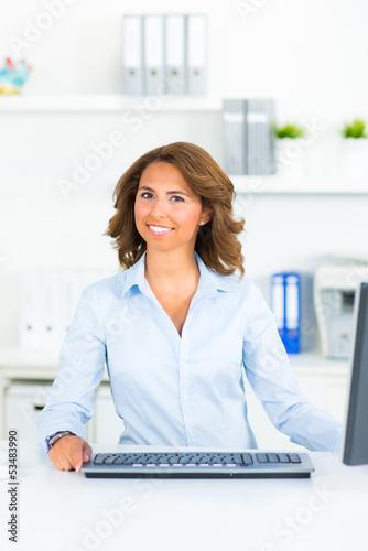 pretty businesswoman in the office