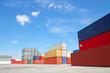 canvas print picture - Containerstellfläche