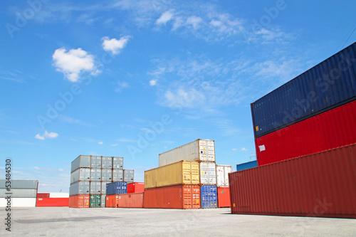 canvas print picture Containerstellfläche