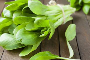 fresh greens for salad