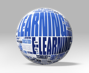 3d Sphere with E-Learning concepts - Clipping path included
