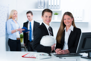 young businesspeople in an office