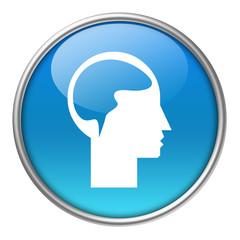Bottone vetro cervello