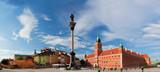 Panorama starego miasta w Warszawie, Polska