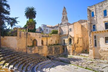 Roman theatre. Lecce. Puglia. Italy.