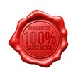 Red Wax Seal - 100% Guarantee Satisfaction