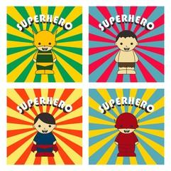 super hero game set three