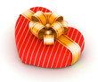 Red and golden gift box