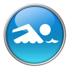 Bottone vetro nuoto