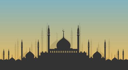 Skyline: minarets and domes
