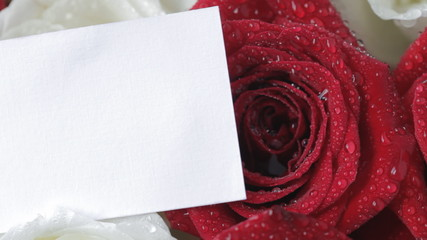 Card on roses
