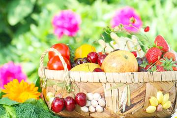 Obstkorb, Obst und Gemüse