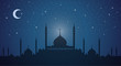 Skyline: minarets and domes night - 53489968