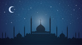Skyline: minarets and domes night