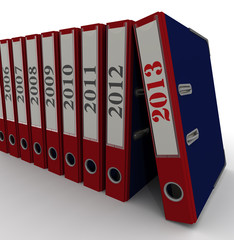 Папки канцелярские. Годовые отчеты до 2013 года